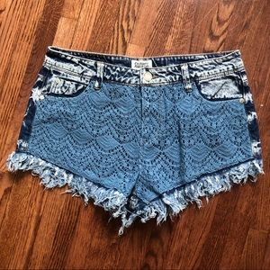 Pants - Jean and lace shorts